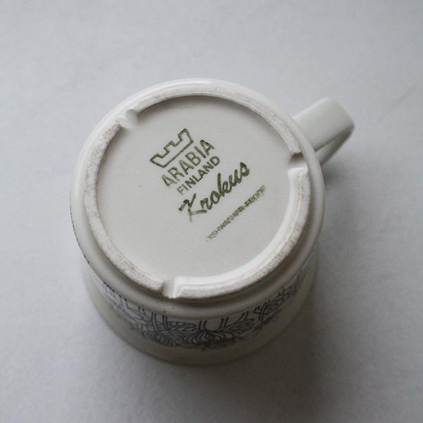 Krokus(クロッカス)モノクロ コーヒーカップ&ソーサー イメージ画像2