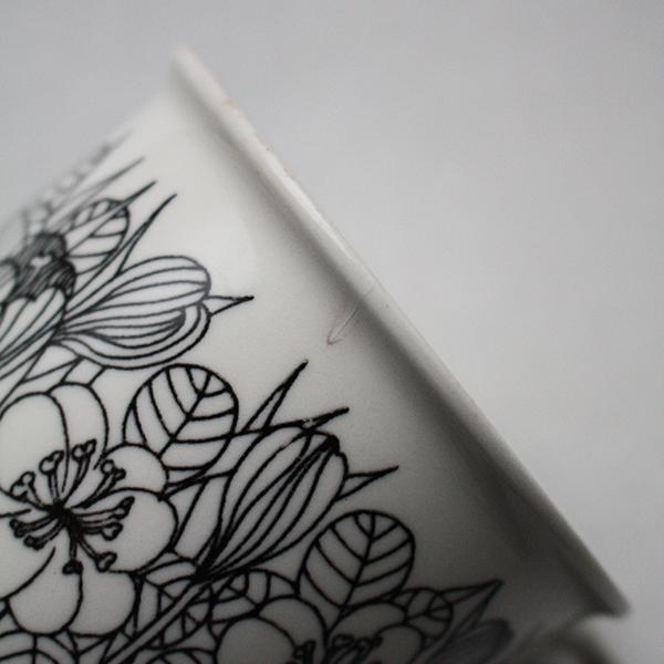 Krokus(クロッカス)モノクロ コーヒーカップ&ソーサー イメージ画像4