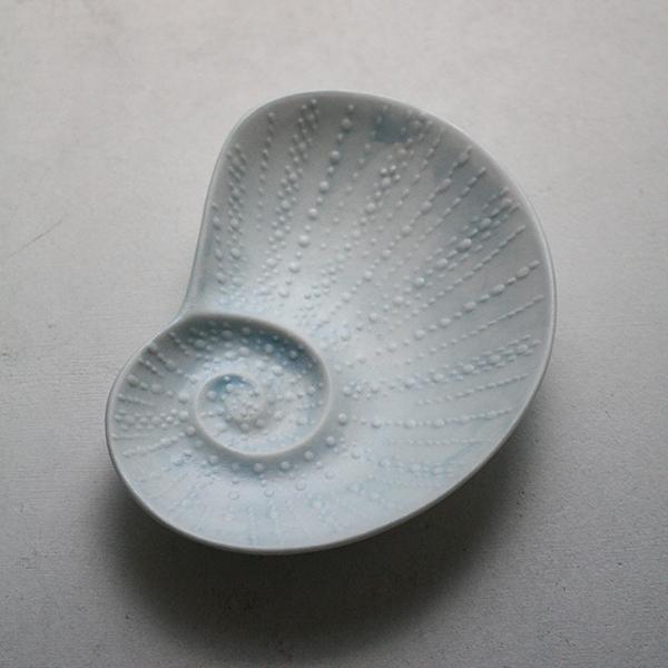 シェルプレート【アオイ】ブルーのイメージ画像
