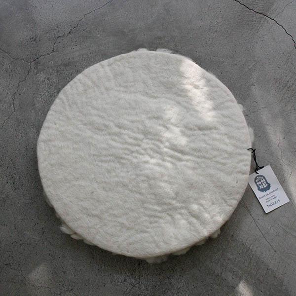 羊毛チェアマット【オフホワイト】 イメージ画像3