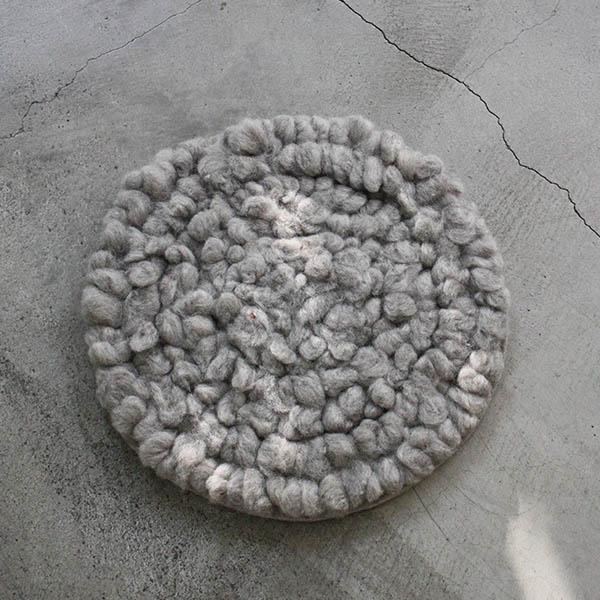 羊毛チェアマット【グレー】 イメージ画像1