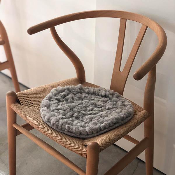 羊毛チェアマット【グレー】 イメージ画像2