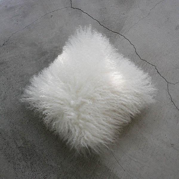 ミニモンゴリアンファークッション【ホワイト】のイメージ画像