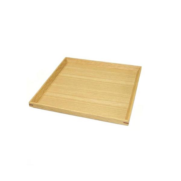 白木塗タモ6.5正角トレーのイメージ画像