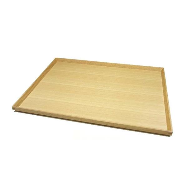 白木塗タモ13.0長角トレーのイメージ画像