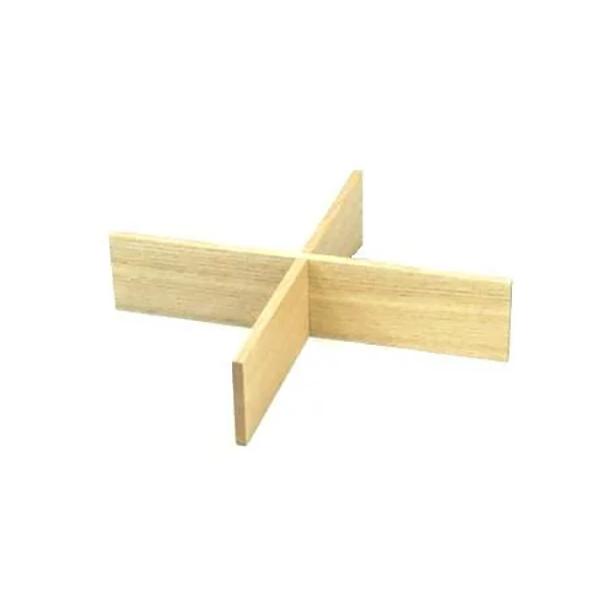 白木塗タモ四つ切仕切り6.0重箱用