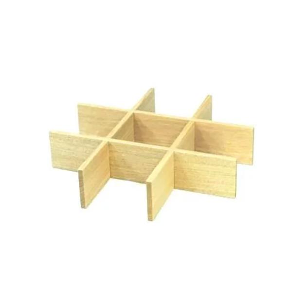 白木塗タモ九つ切仕切り6.0重箱用
