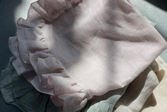 BORGO DELLE TOVAGLIE フリルナプキン 【tulle】 イメージ画像
